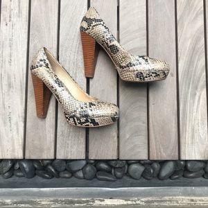 Chinese Laundry | Snakeskin Cone Heels